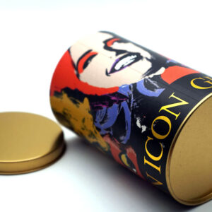 Customized Print Tin can bulk wholesale bottom and opened