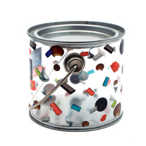 Customized cookie tin container bulk wholesale front show