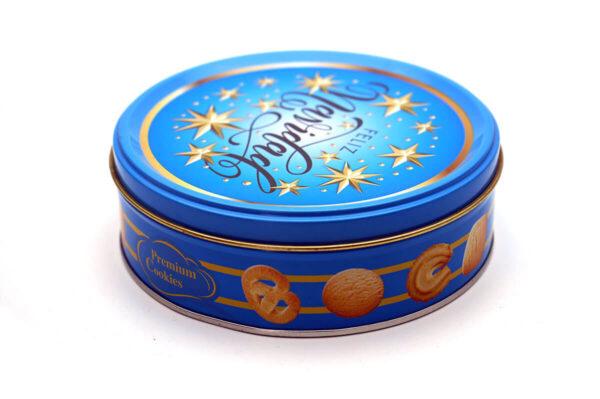 Customized print empty cookie tins bulk wholesale