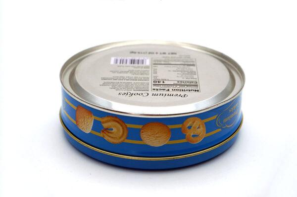 Customized print empty cookie tins bulk wholesale back show