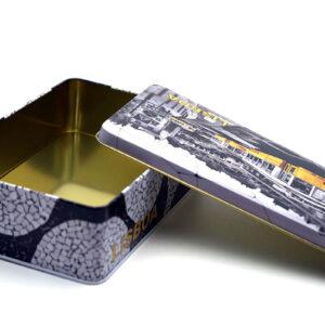 custom tin boxes bulk wholesale open and top show