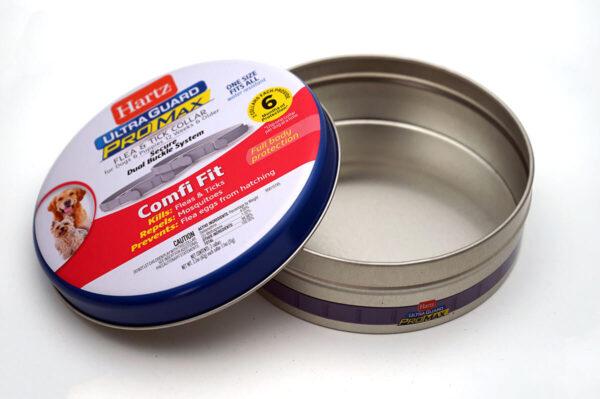 customized Round tin package bulk wholesale open box