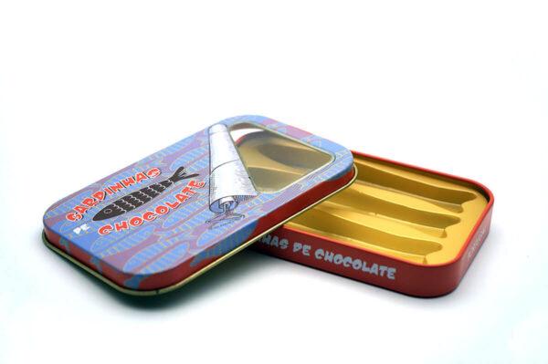 small chocolate tin box bulk wholesale opened