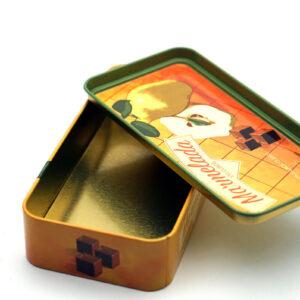 small rectangular metal tin for food bulk wholesale