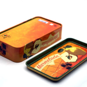small rectangular metal tin for food bulk wholesale top and bottom